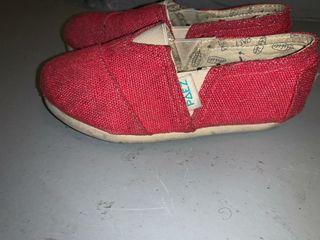 Zapatillas Paez rojas niño