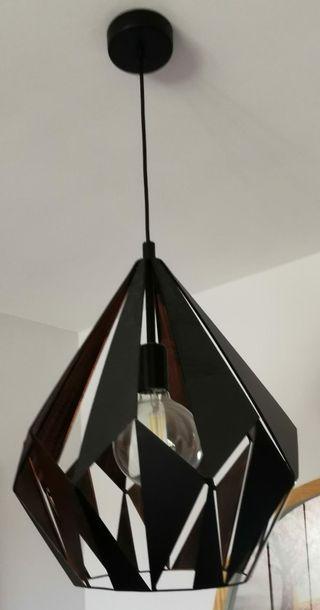 lámpara techo industrial metal