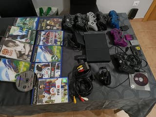 lote muy completo consola ps2