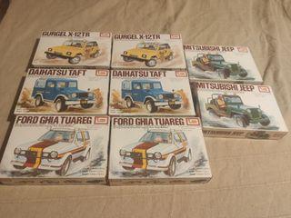 Pack nuevas 8 maquetas coches