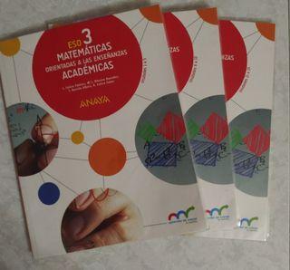 Pack de libros Matemáticas Académicas 3°ESO