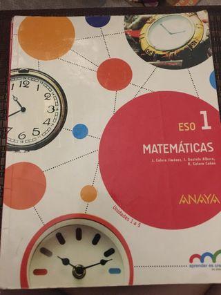 Libro de matemáticas 1 eso