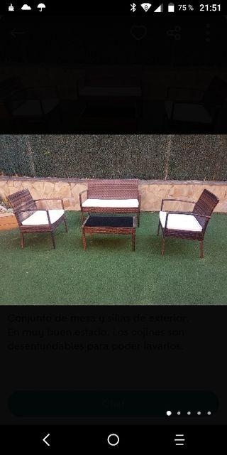 mesa terraza chilout jardín exterior terraza