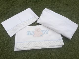 juego sábanas cuna