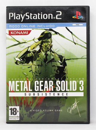 Metal Gear Solid 3 Subsistence PlayStation 2 PAL