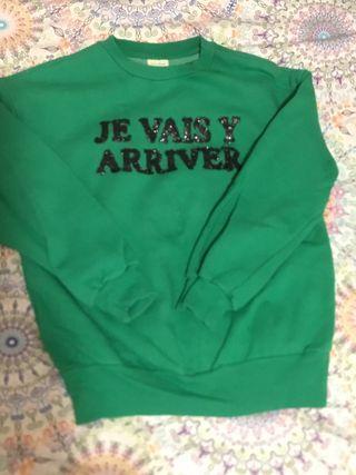 Sudadera verde de Zara