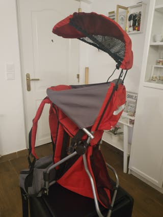 mochila transporta bebé niño trecking montaña