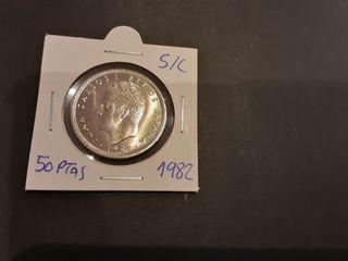 Moneda 50 Pesetas 1982 Juan Carlos I S/C