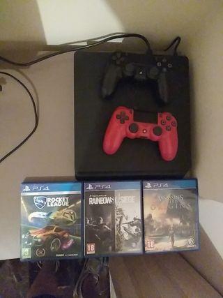 Pack de Ps4+ 2 mandos + Tres juegos