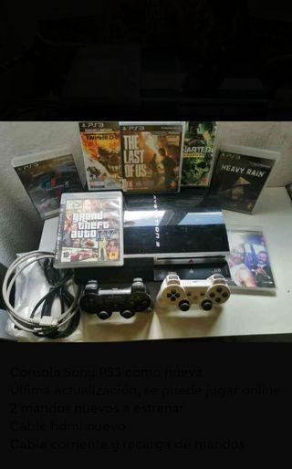 PS3 con 2 mandos nuevos