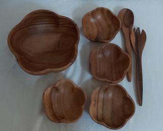 5 x Cuencos madera diversos usos nuevos.