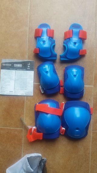 Protecciones patinaje XS