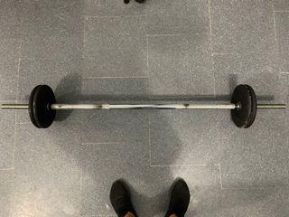 Barra de 155 cms con discos