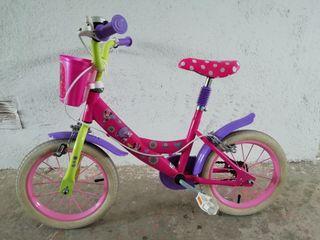 Bicicleta de Minie Mouse