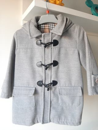 Trenka/ Abrigo niño gris perla