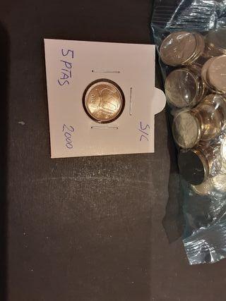 Moneda 5 Pesetas 2000 Juan Carlos I S/C España