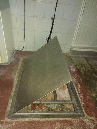 Bascula de suelo de acero inoxidable