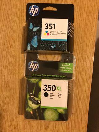 Cartuchos HP350 XL y hp351