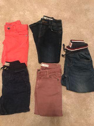Lote pantalones,4-5a
