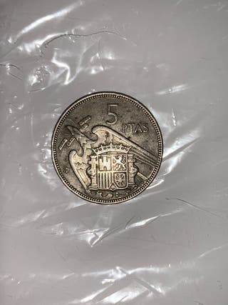 Moneda 5 pesetas Francisco Franco 57