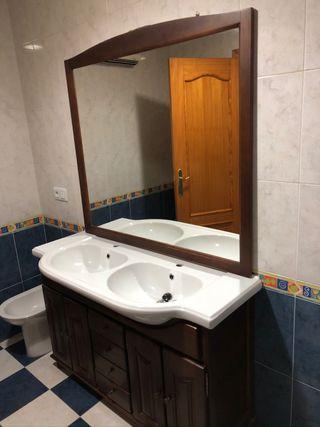 Mueble baño de 120 doble seno compelto