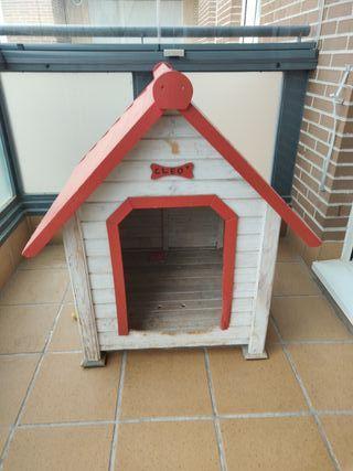 Caseta perro madera mediana