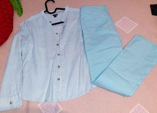 Camisa y pantalón talla 134-140