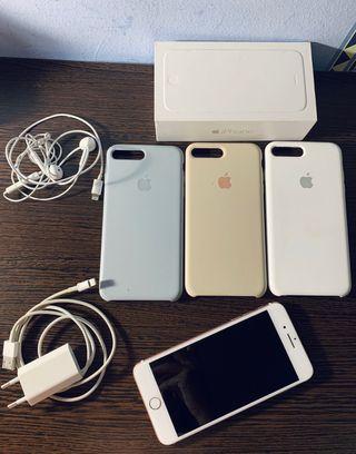 IPHONE 7 Plus completo+ 3 fundas originales apple.