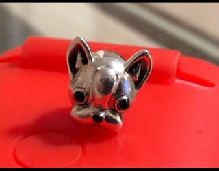 Charm plata s925 bulldog francés