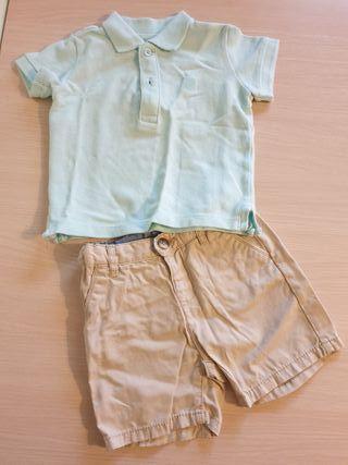 pantalon corro+polo manga corta