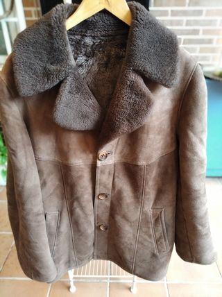 Abrigo piel y pelo hombre vintage años 60/70