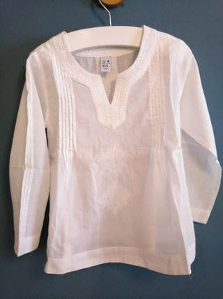 Blusa 3-4a. niña camisa