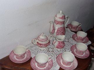 Juego de café porcelana inglesa Staffordshire