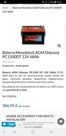 bateria AGM odyssey