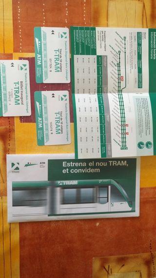 Billete inaugural del tranvía sin usar del 2004
