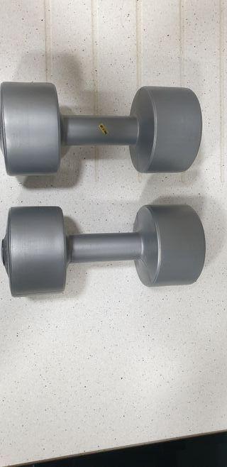 Mancuernas pesas 4Kg cada una musculacion fitness