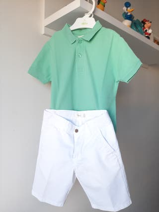 3 Conjuntos Pantalón corto niño