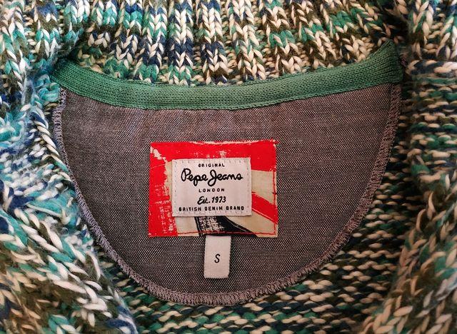 Chaqueta de punto algodón azul de Pepe Jeans
