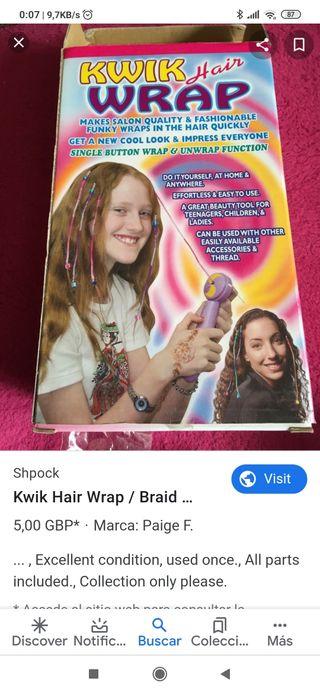 máquina de trencitas ,rastas del pelo