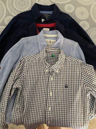 Lote camisas y polos 4-5 años
