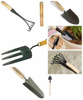 Set 7 mini herramientas jardín. NUEVAS. Se envían