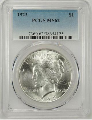 Moneda dólar de plata - Estados Unidos - Peace