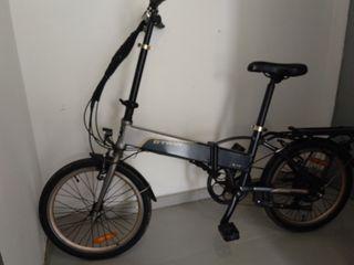 bicicleta btwin plegable eléctrica