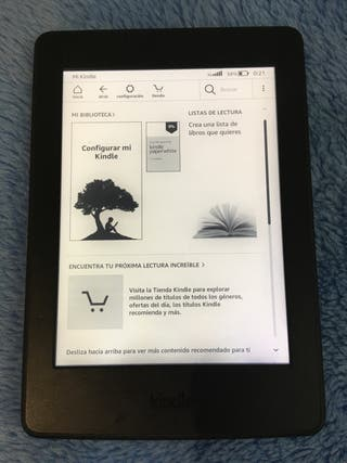 Kindle paperwhite 300PPP 3G y wifi