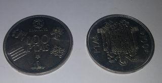 2 Monedas de 100 pesetas