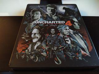 Uncharted 4 steelbook + Disco