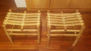 Taburetes de bambú