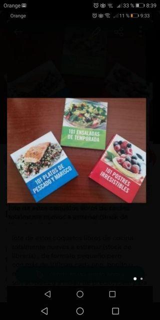lote 3 libros cocina ÉSTRENAR ( stock librería)