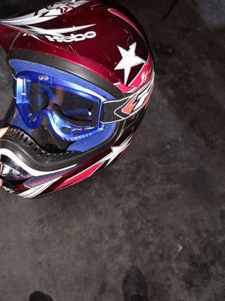 casco enduro, motocross con gafas incluidas