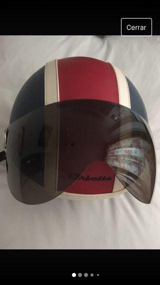 Casco moto de piel talla XS